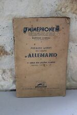 Mimephone - Gustave Vignal - Premier booklet in the stream'German - 1942