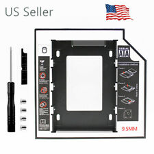 Aluminum LED 2nd HDD Caddy 9.5mm SATA 3.0 2.5'' SSD Hard Disk Drive Enclosure