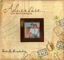 TRAVEL Vacation 12x12 Scrapbook Memory Album Paper Studio The World Awaits NEW