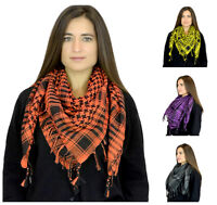 Houndstooth Pattern Square Scarves - Womens Soft Shawl Scarf by Belle Donne