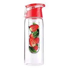 Asobu Pure Flavour 2 Go Water Bottle, 20 oz, Tritan, Red (BTA711R)