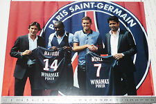 PHOTO 29.5 X 21 PARIS SAINT-GERMAIN PSG BLAISE MATUIDI MENEZ FOOTBALL 2011-2012