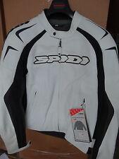 New Spidi Track Wind Leather Jacket White/Black Size 46 US / 56 Euro