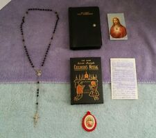 Vintage Childrens 1963 St.Josephs Missal, Italian Rosary, Prayer Card, Scapula