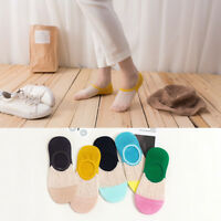 5-10 Pairs Womens Bamboo Soft Invisible No Show Liners Low Cut Nonslip Socks
