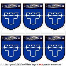 TYNE /& WEAR Flagge ENGLAND Fahne UK Newcastle 110mm Vinyl Sticker Aufkleber x2