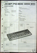 Roland JX-8P and PG-800 Keyboard Synthesizer Original Service Manual, Schematics