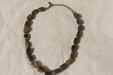 """Preowned 18"""" Brown Stone Necklace"""