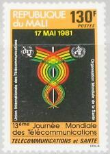 MALI 1981 857 423 13th World Telecommunication Day Emblem Weltfernmeldetag MNH