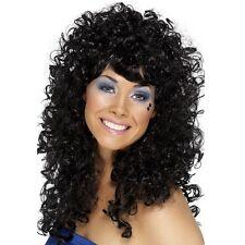 femmes années 80 année 1980 BOOGIE Chérie Perruque noir de déguisement perm