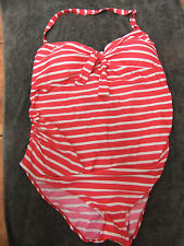 Nice striped Maternity swimsuit from Next.adjustable strap and tie back.size 20.