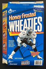 1996 DALLAS COWBOYS DEION SANDERS #21 HONEY FROSTED WHEATIES BOX - FLAT