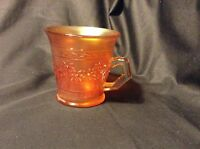"Delightful FENTON ORANGE TREE CARNIVAL GLASS MUG 3.5"" - most popular pattern!"