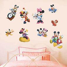 Cartoon Mickey&Minnie Mouse Wall Sticker Vinyl Decal Mural DIY Kids Room Decor