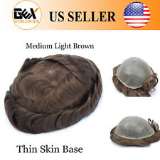 GEX Toupee Mens Hairpiece MIRAGE Basement Human Remy Hair Replacement System 4#