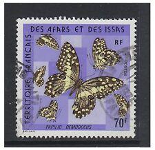 Somali Coast - 1975, 70f Butterfly stamp - G/U - SG 646