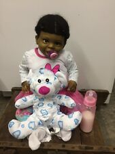 "Reborn TODDLER Laura Tuzio - Ross ""Jordyn Smiling ""African American Baby OOAK"