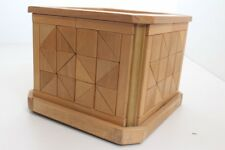 Flower Pot Planter Wood Real Handmade Individual Piece Mosaic (9)