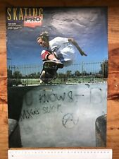 Tony Hawk 1980s double sided 2 page Skateboard poster.