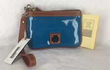 New Dooney & Bourke Turquoise Patent Leather Wristlet MSRP $45 100% Authentic