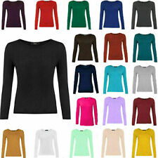 WLSTP Women Ladies Long Sleeve Round Crew-Neck Dynamic Selection 3 T-SHIRT PACK