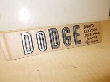 """Mopar NOS Hood Letter Set """"D O D G E"""" 67-68 Dodge Polara/Monaco/500"""