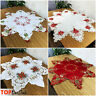 Star Embroidered Christmas Table Runners Tablecloths Xmas with Bells Candle New