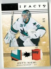 14/15 UD Artifacts Antti Niemi Jersey Dual Patch Tag #4/5 GU SSP 4 Color RARE