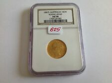 1887S Australia Gold Sovereign Young Head NGC AU 58