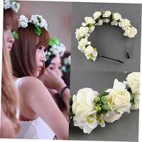 Boho Style Hair Bridal Wedding Flower Garland Floral Hair Hairband NEW