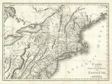 1801 Tardieu Map of the Northeastern United States w/Military Tracts