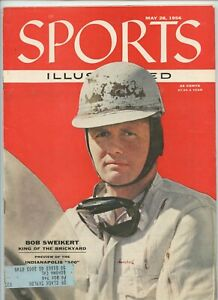 Sports Illustrated BoB Sweikert Indy 500 Evinrude Motor Ad 1956 Nashua