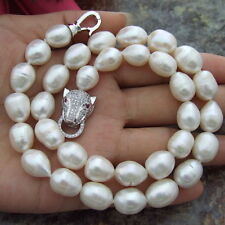 HUGE AAA+ 11-13MM South Sea White Baroque Pearl Necklace 18 inch