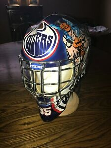 "TOMMY SALO'S EDMONTON OILERS PAINTED ""THOR"" GOALIE MASK"
