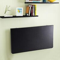 Floating Wall Mounted Computer Desk Home Office Folding Writing Table Black