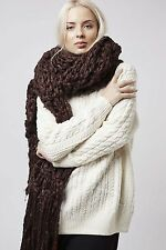 One Size RRP £25 New Topshop Fur Knit Snood Tube Scarf Nude//Beige