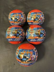 (5x) Mashems-Fashems *PAW PATROL Surprise Mystery Toy Ball Series 10 Moto Pups!