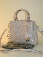 DKNY Studded Paige Sutton Blush Pink Leather Satchel Convertible Bag $398