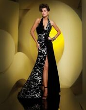 Tony Bowls Grad Prom Dress 111520 Black/White Size 10 NWT