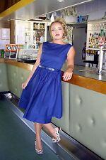 Lindy Bop Audrey Hepburn Style Rockabilly Dress 14 BNWT RRP £33.99 Midnight Blue