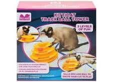 Kitticat Track Ball Tower, Cat Toy, interactive toy, balls spin and cat chases