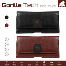 Premium Holster Designer Leather Belt Pouch Twin Loop Strong Flip Luxury Cover