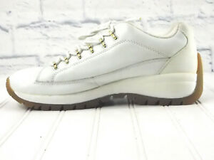 LUGZ Mens White with Gold Accent Chunky Sole Fashion Sneaker US 10M EU 44 UK 9.5