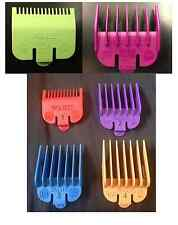 WAHL COLOURED CLIPPER ATTACHMENT COMBS SET No 1,2,3,4 + 0.5 & 1.5 IN COLOUR