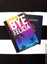 Bye Felicia - Palm Trees - Rainbow Sunset Ombre - Passport Holder Cover Wallet