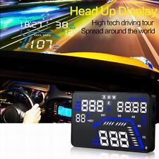 "Q7 5.5"" Car HUD Head Up Display GPS Speed Warning System Fuel Consumption Au4"