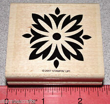 Stampin Up Baroque Motifs Stamp Single Square Flower Pattern Unique Design Clean