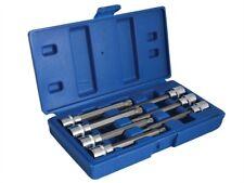 BlueSpot Tools 01512 Muy Largo 1cm Eje Cuadrado Punta Nervada Enchufes 7 Piezas