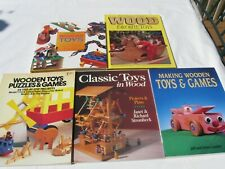 5 Wood TOY MAKING BOOKS 2 Hard Cover