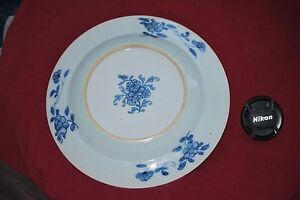 Chinese Blue Porcelain Antique Plate